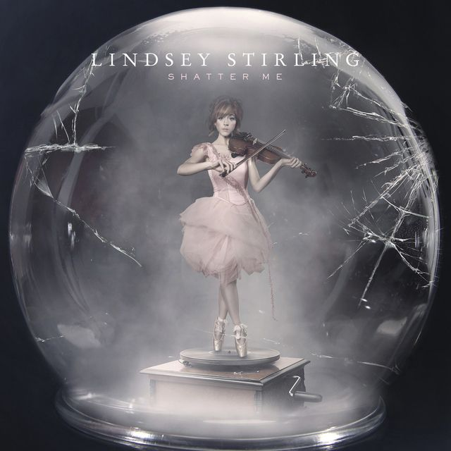 "sneak peak at the NEW Album cover for Lindsay Stirling ""Shatter Me"" How cool is this?"