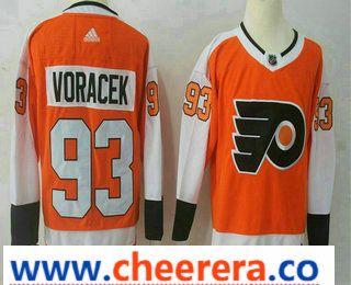 Men s Philadelphia Flyers  93 Jakub Voracek Orange Home 2017-2018 Hockey  Stitched NHL Jersey dfa55c605