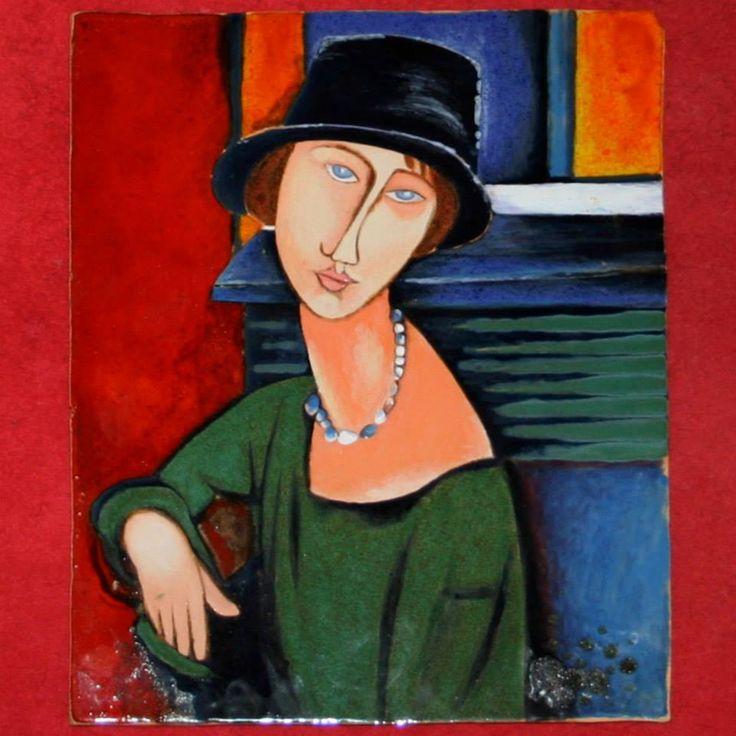 A. Modigliani.  Obraz ceramiczny, majolika Danuta Rożnowska-Borys BorysArt