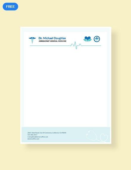 Free Doctor Letterhead Format Letterhead Templates  Designs 2019