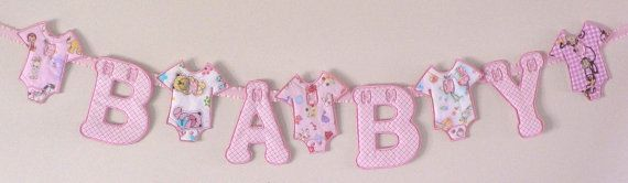 Baby Shower Banner/Garland BABY Letters & by DrenasDesigns on Etsy