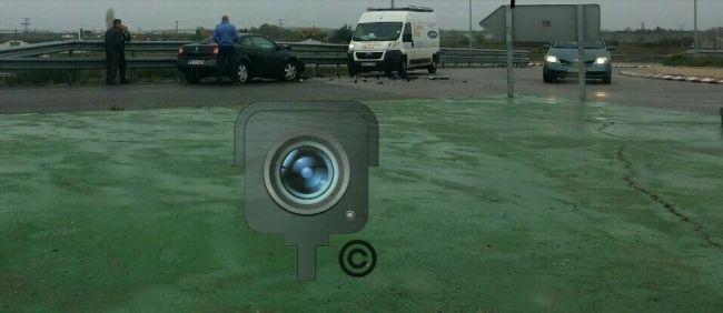 Accidente en Rotonda Cristo Morales Foto radar Zamora