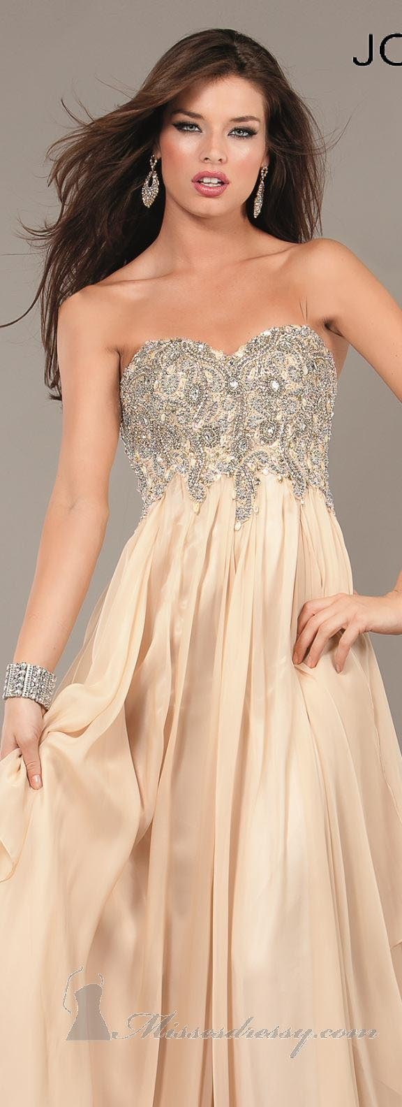 Jovani Prom 2013 #long #formal #dress #crystal #evening #dresses #strapless #nude