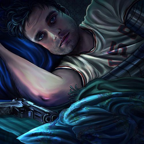 """From the life of Bucky Barnes on Instagram: """"Steve keeps telling me that I'm safe, that everything is fine now, but I can't help sleeping with this thing under my pillow."""""""
