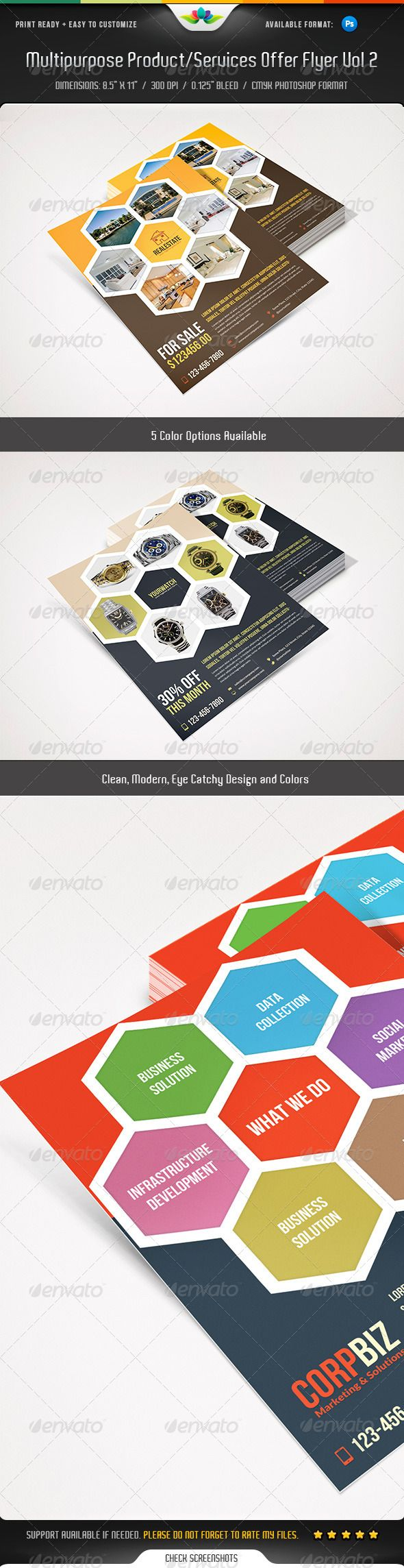 17 best images about marketing flyer multipurpose product services offer flyer vol 2