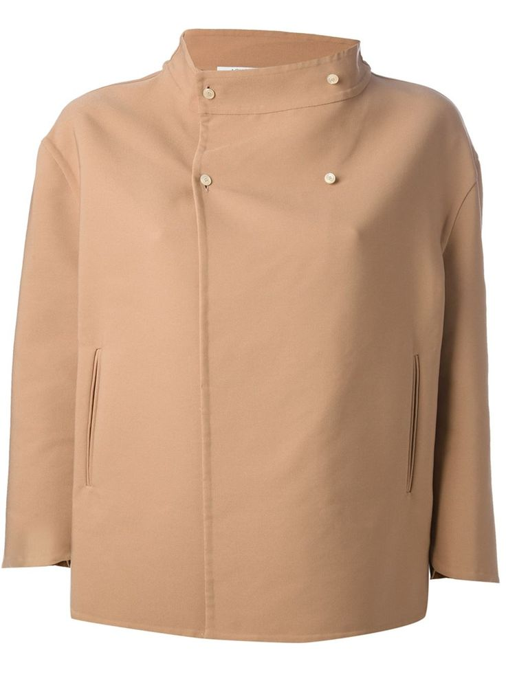 Agnona Wide Funnel Neck Jacket - Stefania Mode - Farfetch.com