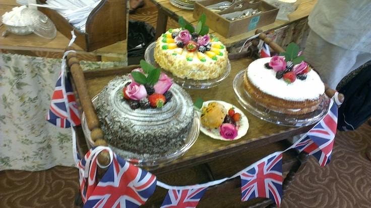 Some of the cakes on offer Epsom Vintage Fair