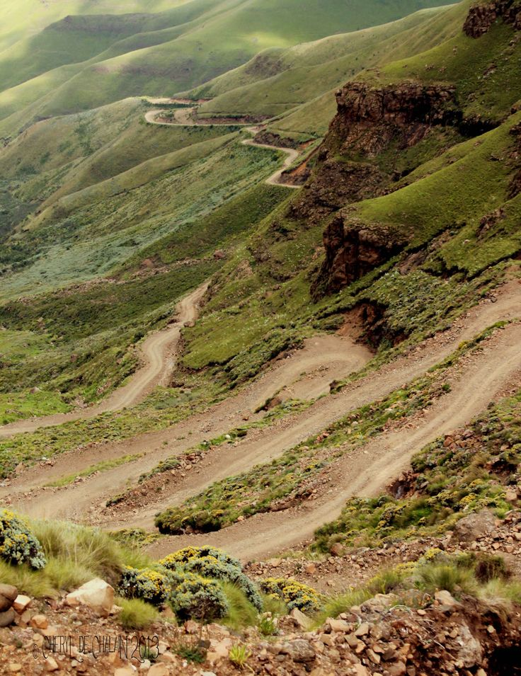 The Winding Road of the Sani Pass Drakenberg/Lesotho