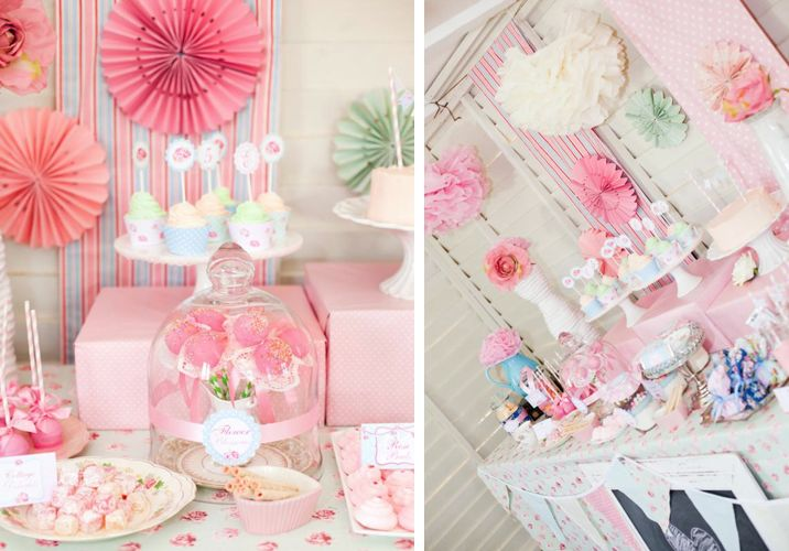Shabby Princess Birthday Party via Kara's Party Ideas - www.KarasPartyIdeas.com