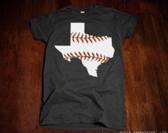 FREE SHIPPING Texas baseball Ladies junior fit t-shirt by watatees