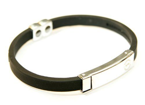 Shenzhen Jewelives----Top ten silicone Manufacturer Black Titanium Sport Stainless Steel Unisex Silicon Bracelet Tourmaline with Fully Adjustable Custom Fit Silicone Band  Http://www.globalsources.com/jewelives.co Kristy.yang@jlssilicone.com