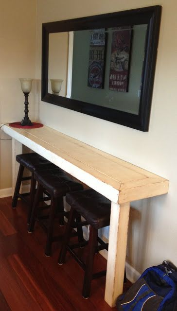 Dad Built This: Farmhouse Snack Bar - Buffet--i want a kids drawing station like this!
