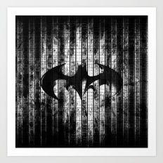 Bat in the shadow Art Print