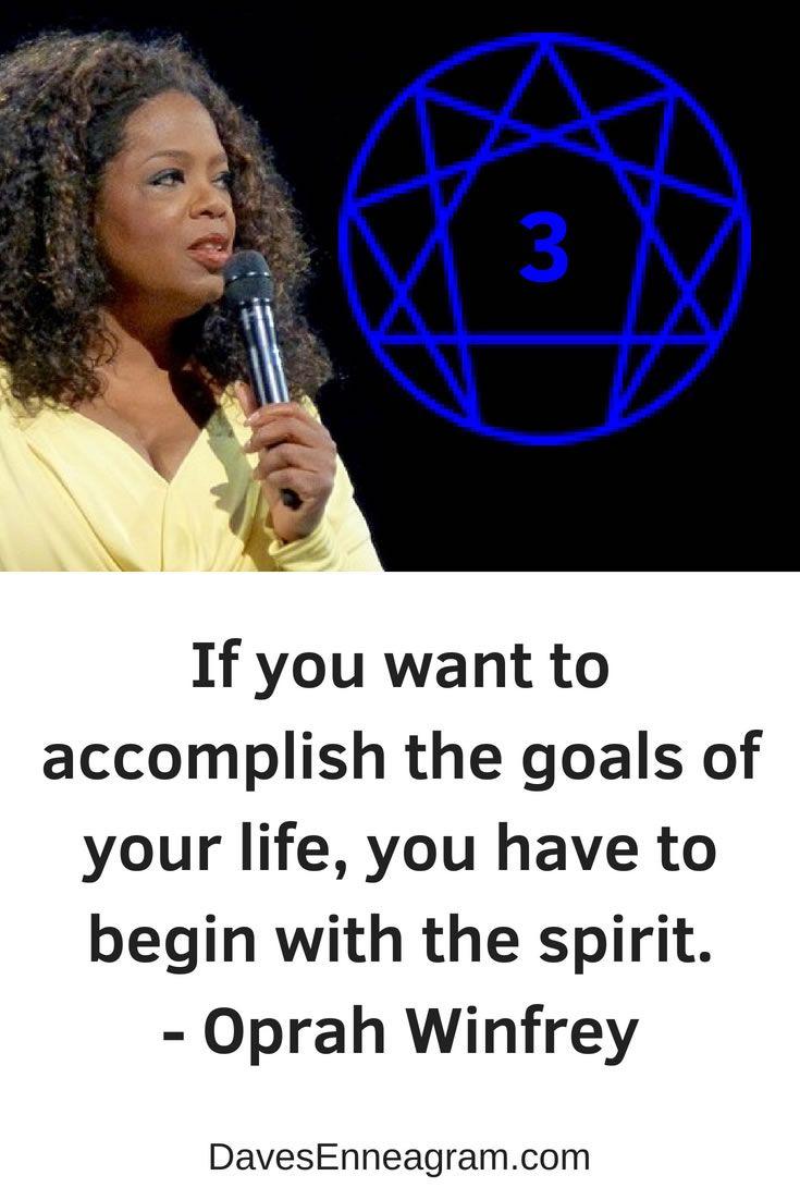 Famous Enneagram Type 3 Quote Oprah Winfrey Oprah