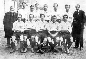 The 1908 Great Britain and Ireland Olympic Football team... in the days when you could win a Gold Medal on a 'Fish and Chips' training programme