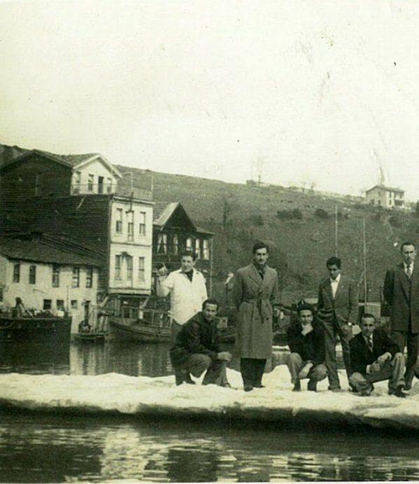 Buz üstünde fotoğraf (İstinye, 1950'ler) #birzamanlar #istanlook #nostalji