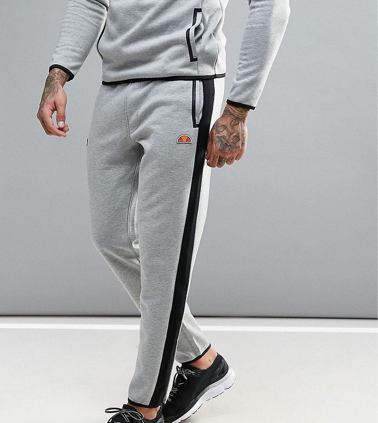 Ellesse Sport Joggers With Panels in Skinny Fit - Gray