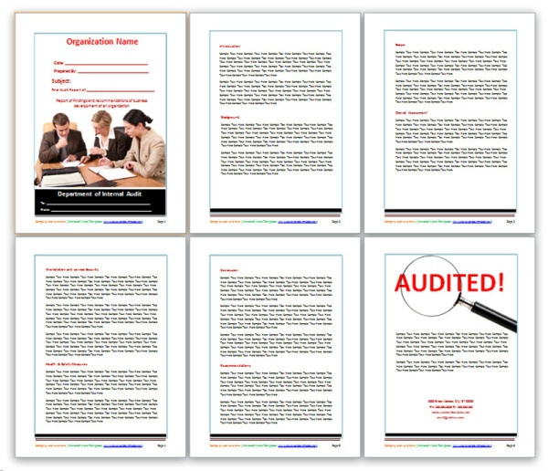 audit report template excel