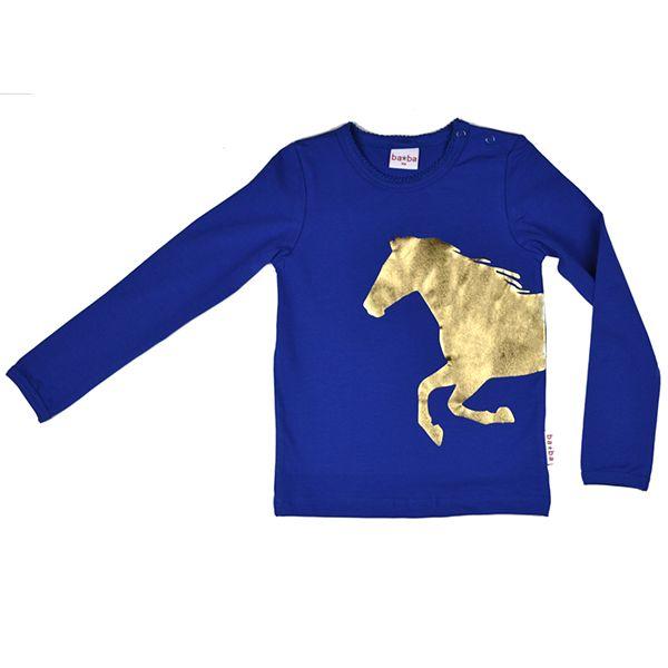 baba babywear longsleeve horse kobalt