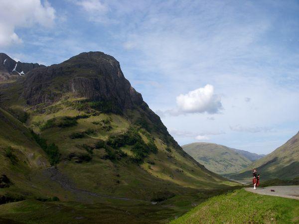 Bagpiper in Scotland.