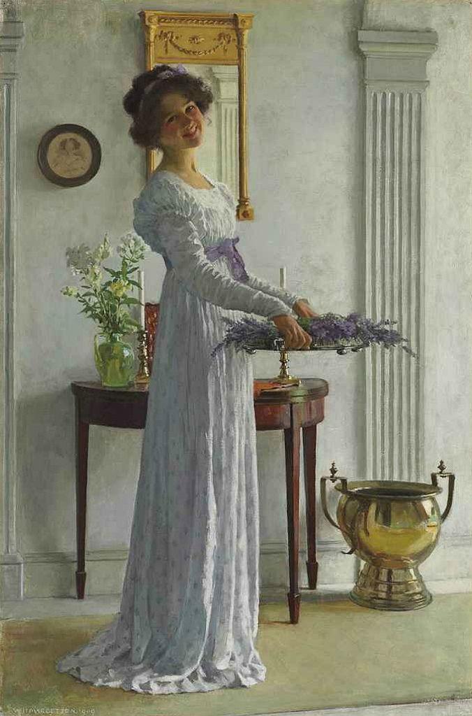 Fresh Lavender - William Henry Margetson, English painter 1861-1940