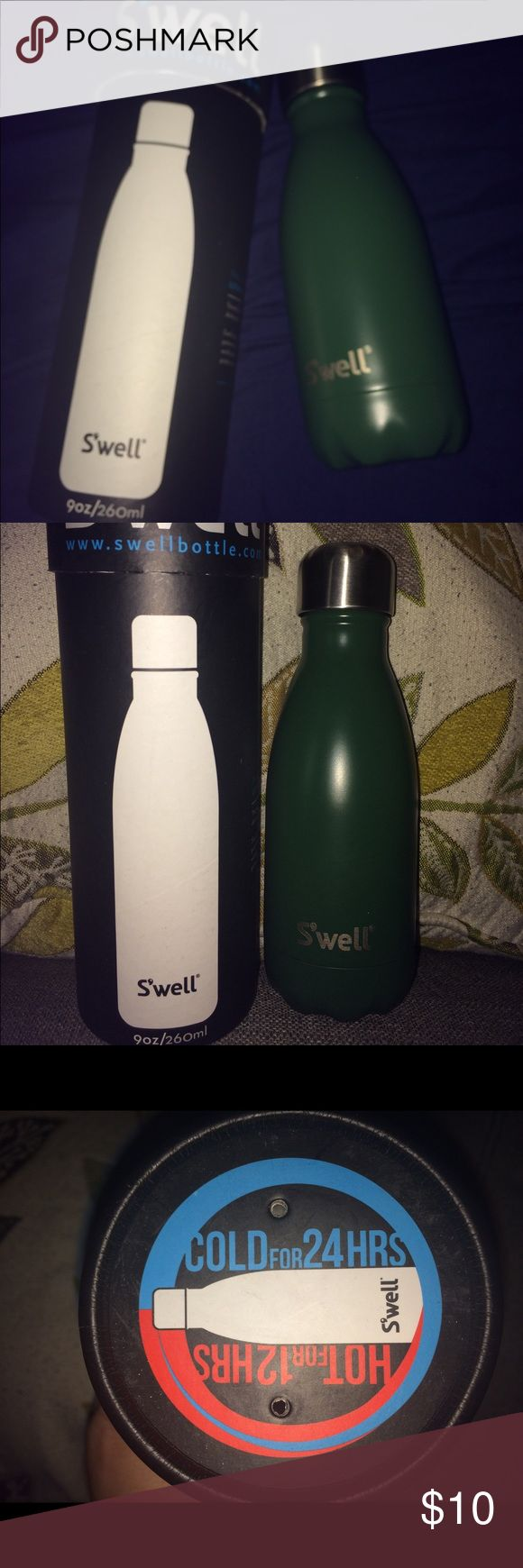 Swell 9 oz insulated bottle! Brand new/never used Swell 9 0z bottle!  Hunter green color with silver cap.  Includes box! Swell Other