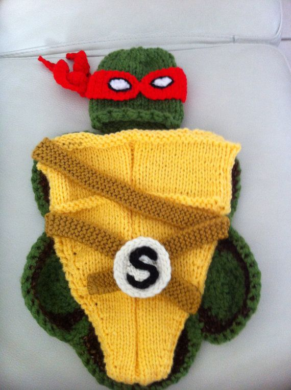 Halloween Ninja Turtle outfit - hat and cocoon, Halloween costume