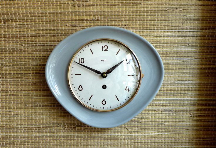 Kitchen Clock Wind up Clock Made in Germany Porcelain by GLOWUP