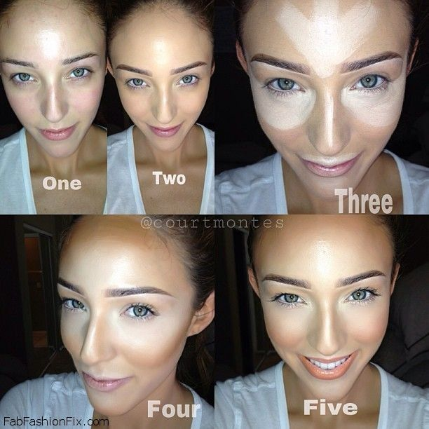This is a great guide on how to highlight and contour... I'm a dummy with stuff like this so it gives me a little motivation to start playing around!!!