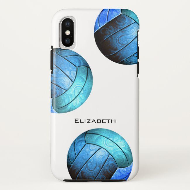 Turquoise Blue Personalized Women S Volleyball Case Mate Iphone Case Zazzle Com Girly Iphone Case Iphone Cases Cheap Iphone Cases