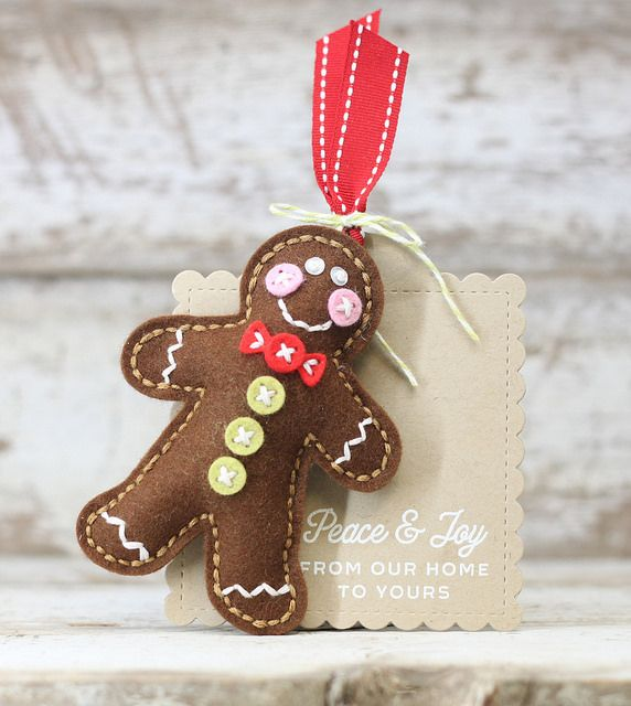 Gingerbread Man Ornament by Laurie Willison for Papertrey Ink (November 2016)