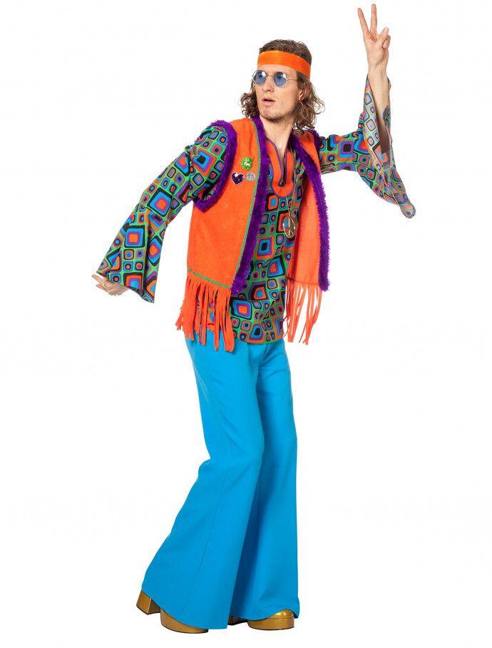 Hippie Mit Weste Herren 2 Tlg Fur Karneval Fasching Deiters