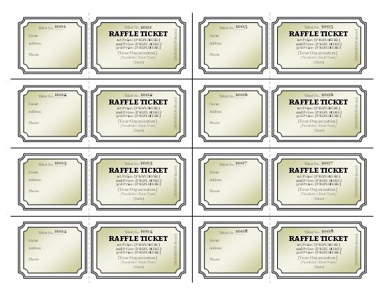 The 25 best ideas about Printable Raffle Tickets – Raffle Ticket Template Free
