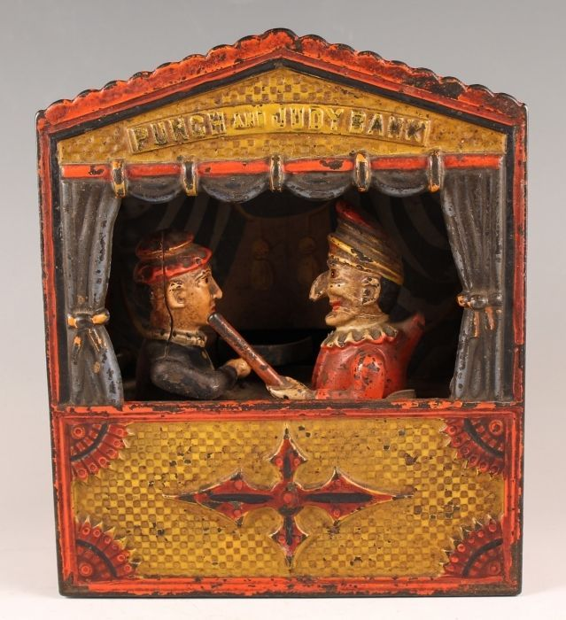 Original Antique 19c Punch & Judy Cast Iron Mechanical Bank Collectors Weekly