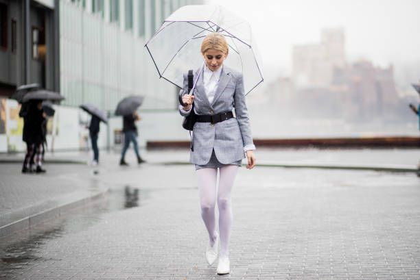 cd95734224650 Caroline Daur wearing white tights grey belted blazer grey skirt seen  outside Tibi on February 11 2018 in New York City