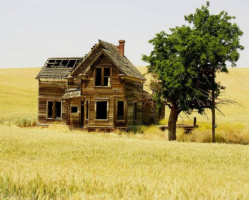 Abandoned house on Emerson Loop Rd near The Dalles, Oregon