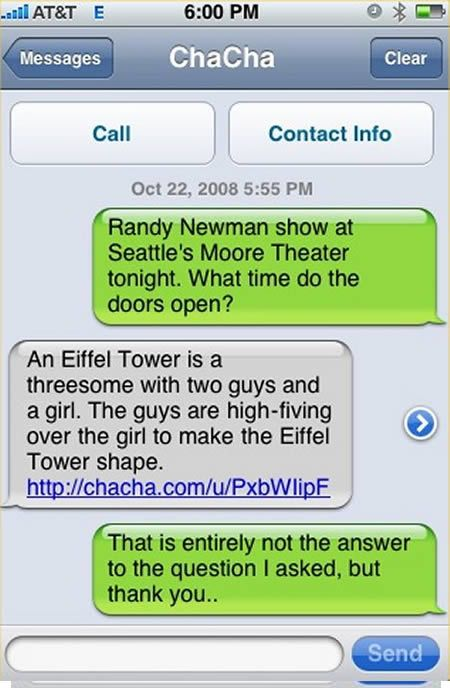 These things make me laugh so much! 16 Funny iPhone Text Messages - Oddee.com (funny text messages, hilarious text messages...)