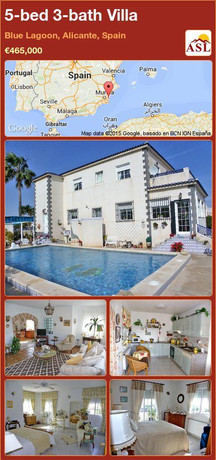 5-bed 3-bath Villa in Blue Lagoon, Alicante, Spain ►€465,000 #PropertyForSaleInSpain
