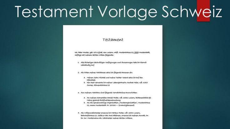 Testament Muster Vorlage Im Word Format Muster Vorlage Ch Vorlagen Muster Finanzen