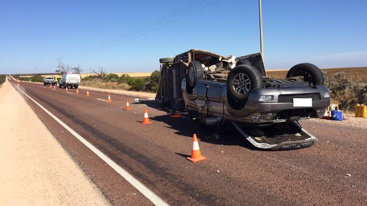 A family is lucky to be alive after a serious crash on the Eyre Highway on Wednesday afternoon.