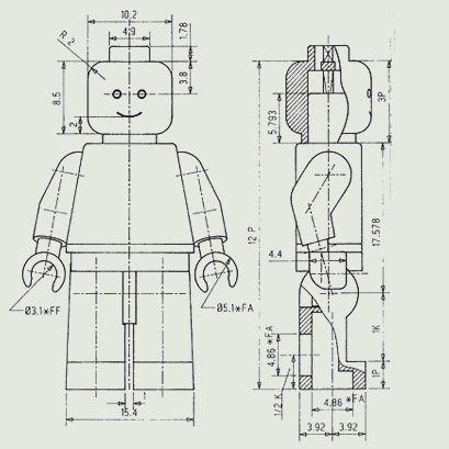 Was bedeutet P, FF, FA und K in einer technischen Zeichnungen?
