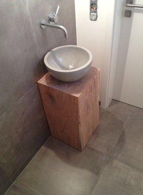 Beton Waschbecken Gäste-WC