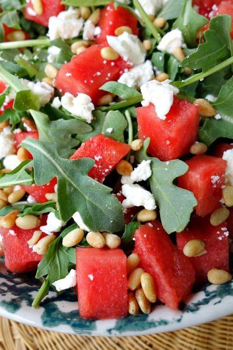 Watermelon, Feta and Arugula Salad #recipe - RecipeGirl.com