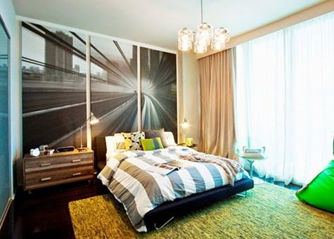 Modern Bedroom Ideas with Wall Mural Decor