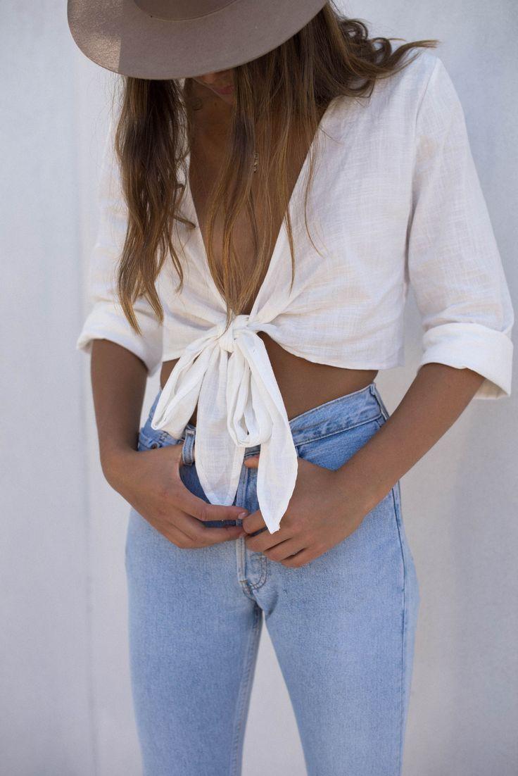 Cleo Wrap Top - White