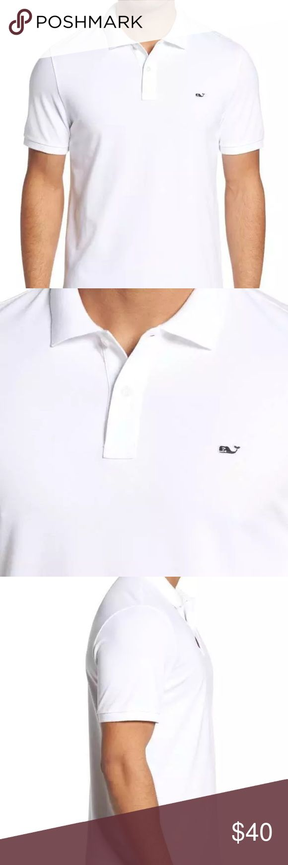 VINEYARD VINES REGULAR FIT PIQUE POLO WHITE XL VINEYARD VINES   REGULAR FIT PIQUE POLO  SIZE :XL  COLOR: WHITE   NEW WITHOUT TAGS  TRIED ON AT NORDSTROM, THIS MEANS THE ITEM MAY HAVE BUT NOT LIMITED TO DEODORANT MARKS, MARKS, PERFUME SMELL OR SNAG (S) Vineyard Vines Shirts Polos