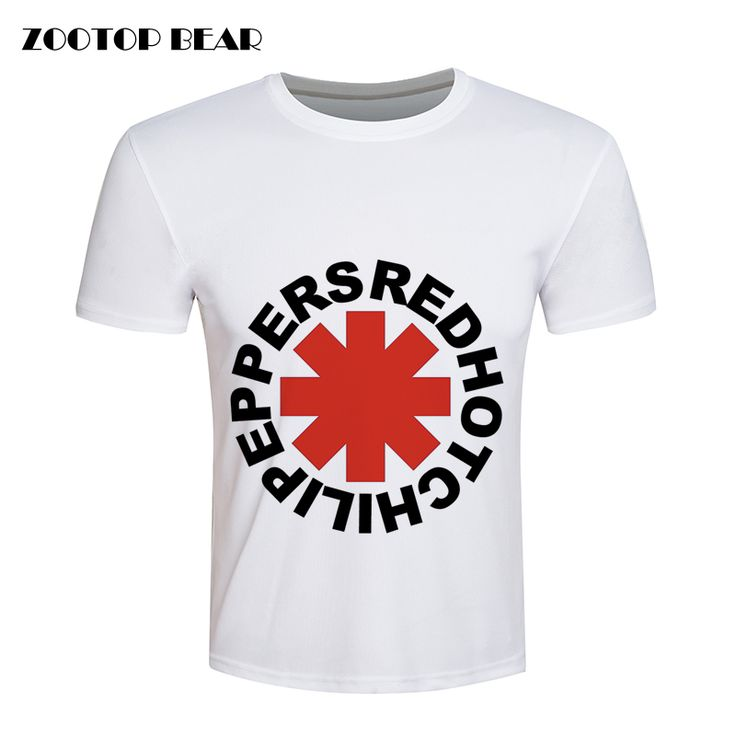 Red Hot Chili Peppers T shirt Men Hip hop T-shirt Skate White Rock Summer Loose Brand Clothing Fashion Casual Tee ZOOTOP BEAR #Affiliate