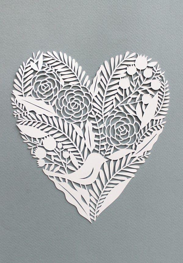 giochi di carta: Heart paper Cut