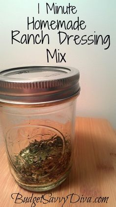 Frugal, Super Simple, Gluten - Free. Make   Homemade Ranch Dressing or Ranch Dip or Give Zing To a Meal