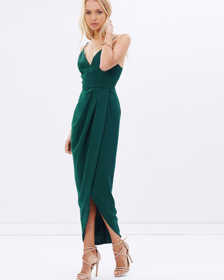 Cocktail Draped Maxi Dress by Shona Joy Online | THE ICONIC | Australia